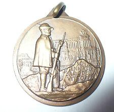 MEDAGLIA COMMEMORATIVA XLI ADUNATA NAZIONALE ALPINI ROMA 1968 50° ANNIV,VITTORIA