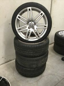GENUINE AUDI A3, A4, RS4 18 INCH WHEELS WITH TYRES **SET OF 4**
