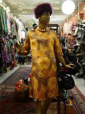 Berger Leipzig KLEID M 60er seidig floral Sommerkleid TRUE VINTAGE 60s MOD dress