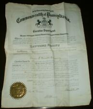 EDWIN F GARRETT COMPANY, LETTERS PATENT, 1908, PENNSYLVANIA, PA, DELAWARE COUNTY