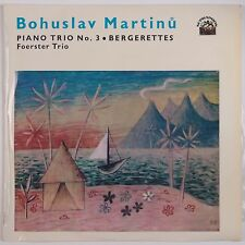 MARTINU: Piano Trio FOERSTER Supraphon Czech NM Vinyl LP