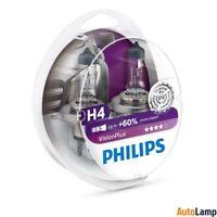 PHILIPS H4 VisionPlus Car Headlight Bulb 12V 60/55W P43t-38 12342VPS2 Twin