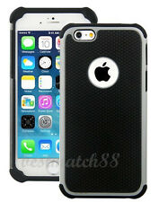 for iPhone 6 4.7 inch phone gray black triple layer ruged hybrid hard soft case