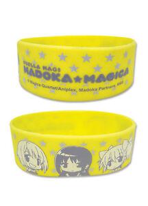 **Legit** Madoka Magica Homura Kyoko Mami Group Authentic PVC Wristband #88036