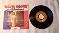 """DAVID BOWIE Heroes SUNG IN FRENCH 7"""" Vinyl Single 45 PICTURE SLEEVE"""