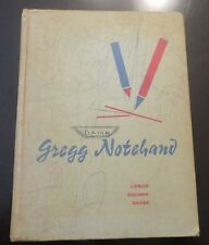 1960 - RARE BOOK -  GREGG NOTEHAND BOOK - BY LESLIE, ZOUBEK, DEESE - SHORTHAND