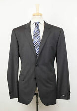 New. HUGO BOSS 'The Grand/Central' Gray Striped Wool 2 Button Suit 54/44 R $995