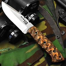 ALONZO KNIVES USA CUSTOM HANDMADE TACTICAL HUNTING 1095  KNIFE PAKKA WOOD 12457