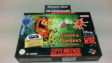 TIMON & PUMPAA' JUNGLE GAMES !!!!  NUOVO !!!!  SUPER NINTENDO