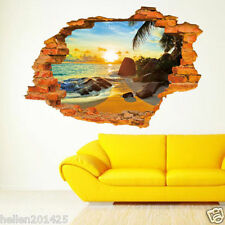 3D Removable Sunshine Beach Wall Sticker PVC Decal Mural Art for Kids Room Decor