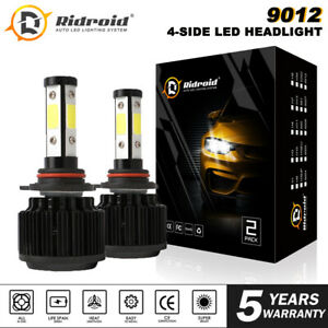 2x 4-Side 9012 LED Headlight Bulb Low Beam Canbus For RAM 1500-3500 2013-2015