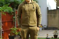 Milano Men Tracksuit Fleece  Slim Fit with Hooded top For Gym, Walking,Out Door
