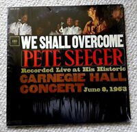 PETE SEEGER WE SHALL OVERCOME VINYL LP LIVE AT CARNEGIE HALL 1963 COLUMBIA VG