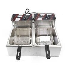 12L 5000W Elektrische Doppel Friteuse Fritteuse Fritöse Frittöse Fettbackgerät