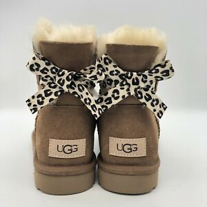 Women's UGG Mini Bailey Bow II Exotic Chestnut winter boot