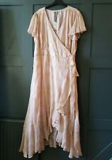 SOMERSET by Alice Temperley Jacquard Maxi Dress UK 18 RRP £160.00 Pale Pink