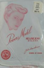 Powers Model Vintage Nylon Stockings 2 Pair Size 9-1/2 Nip