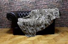 Luxury Real Pale Gray Rex Rabbit Throw Blanket