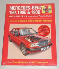 Manuale Riparazione Mercedes 190/190 e + D W201, Anno di Costruzione 1983 - 1993