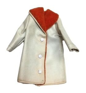1/6 Scale Leather Jacket Beige 3 Button Orange Lining Overcoat 1970's Style Coat