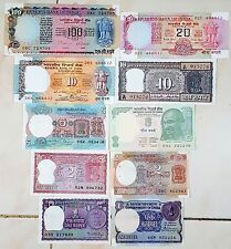 "EXTREMELY RARE INDIA OLD CURRENCY ""10 NOTES SET"" IN GEM UNC............."