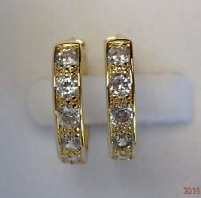 Sapphire Yellow Gold Filled Fashion Earrings