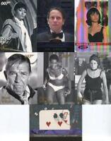 James Bond Heroes & Villains Expansion Partial Card Set 7 Cards