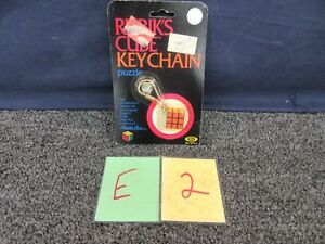 Rubik's Cube Keychain Ideal 2215-2 Toys Pocket Games Vintage Puzzle Box