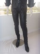 ELVIS Soft BLACK Leather 1968 PANTS (Tribute Artist Costume)Pre Jumpsuit Era NEW
