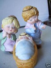 """Vintage Mary Joseph & Baby Jesus Nativity Ceramic Figurine 3 1/2"""" tall"""
