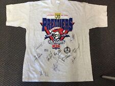 ORIGINAL NEWCASTLE KNIGHTS PREMIERS SIGNED T-SHIRT FROM 1997 RARE