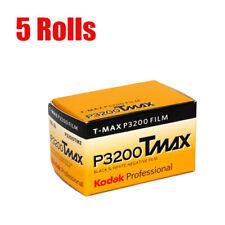 5 Rolls Kodak T-MAX 3200 Tmax P3200 135-36 35mm B&W Negative Film  Fresh 08/2020