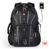 "CrossGear USB Charge Waterproof  17"" Laptop Backpack Travel Bag Schoolbag"