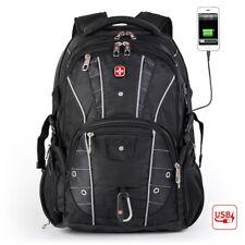 "SwissGear Multifunctional USB Charge 17"" Laptop Backpack Waterproof Travel Bag"