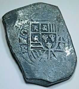 1729 Shipwreck Spanish Mexico Silver 8 Reales Dated Colonial Dollar Cob Coin