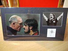 Mounted Joe Jordan Signed Card & Photo Display - Spurs & Scotland Football