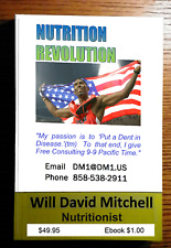 NUTRITION REVOLUTION 270pg printed book  Master Nutritionist Will David Mitchell