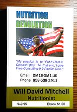 David NUTRITION REVOLUTION 270pg printed book by Master Nutritionist