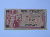 MPC 5 Cents U.S. Military Payment Certificate 692 (Replacement Note)