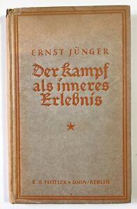 Ernst Jünger. Der Kampf als innerers Erlebnis. 1922. Erstausgabe.