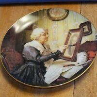Collector Plate GRANDMA'S LOVE ~ Norman Rockwell ~ COA ~ Golden Moments