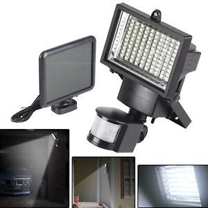 120 LED Solar Powered PIR Motion Sensor Outdoor Garden Light Security Flood Lamp