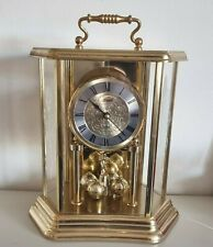 More details for vintage hermle quartz anniversary desk table mantel clock made in germany