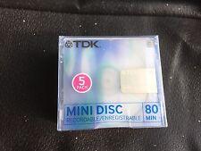 TDK MINI DISC registrabile 80 min -5 Dischi in un pacchetto