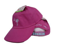 Embroidered Hot Pink South Carolina SC Palmetto Crescent ball Hat Cap