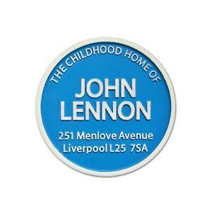 Beatles John Lennon Blue Plaque Fridge Magnet
