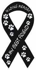 Ribbon Shaped Magnets: In Loving Memory | My Best Friend | Cars, Remembrance