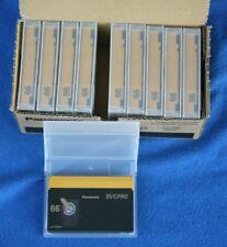 Ten Panasonic AJ-P66MP DVCPRO tapes  New