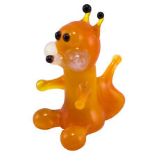 Miniature Tiny Detailed Lampwork Flame Hand Blown Glass Orange Fox Figurine New