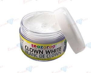 SNAZAROO CLOWN WHITE 50ML FACE PAINT (Professional/Body/Fancy Dress/Make Up)